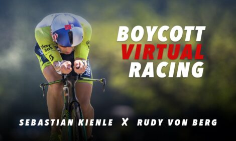 """I can beat anyone!"" Sebastian Kienle tells Rodolphe Von Berg"